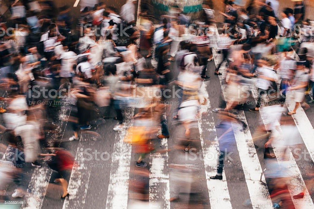 Crossing in Japan stock photo