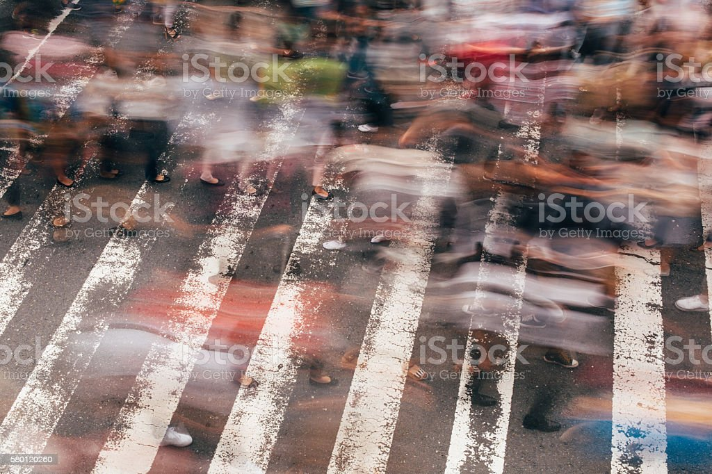 Crossing in Japan stock photo