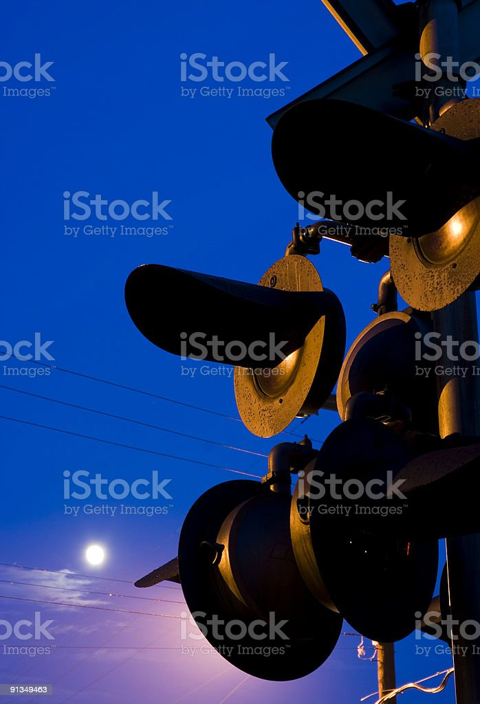 Crossing lights stock photo