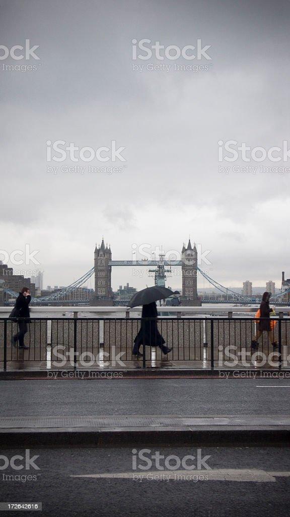 Crossing London Bridge royalty-free stock photo