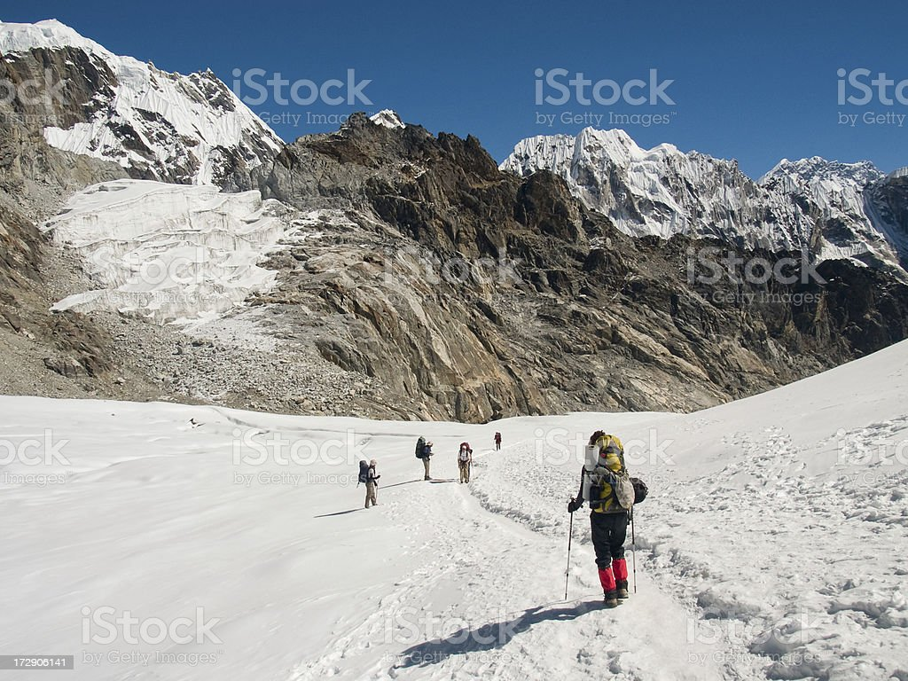 Crossing Mountain Pass royalty-free stock photo