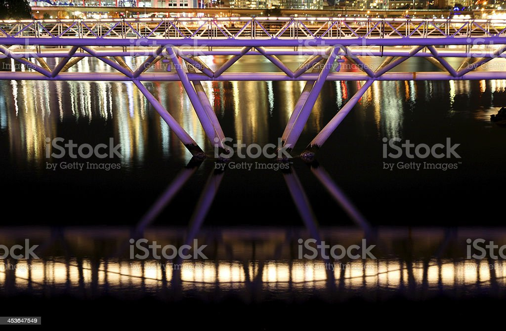 Crossing Night Water royalty-free stock photo