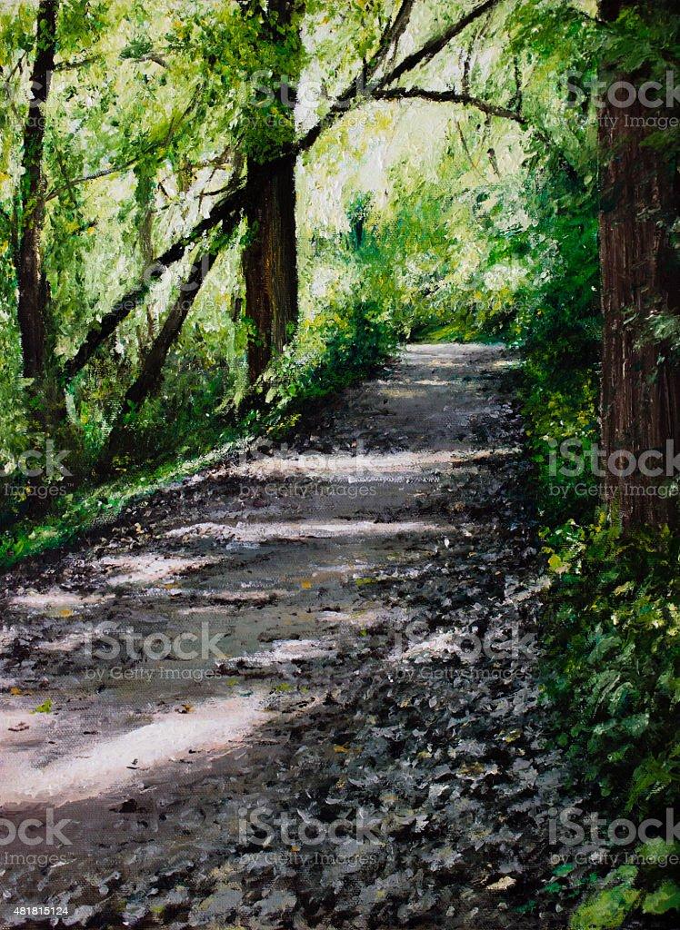 Crossing Paths stock photo
