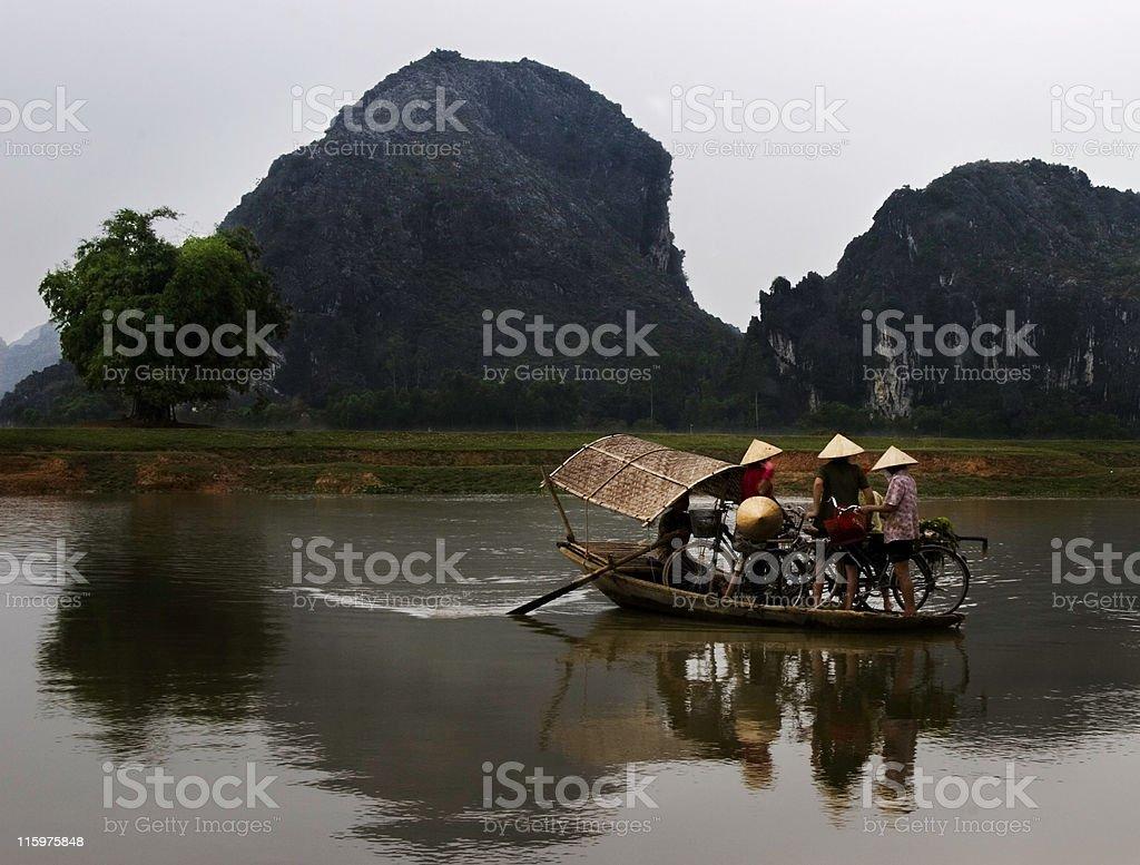 Crossing River stock photo