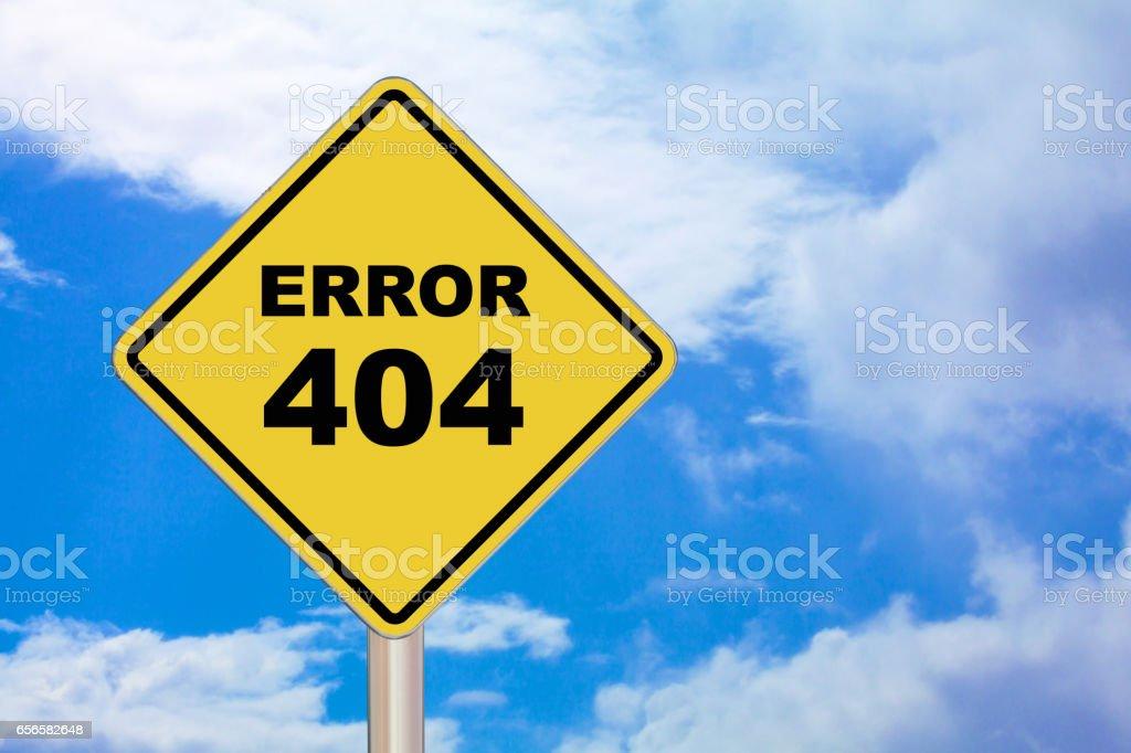 Crossing Sign - Error 404 stock photo