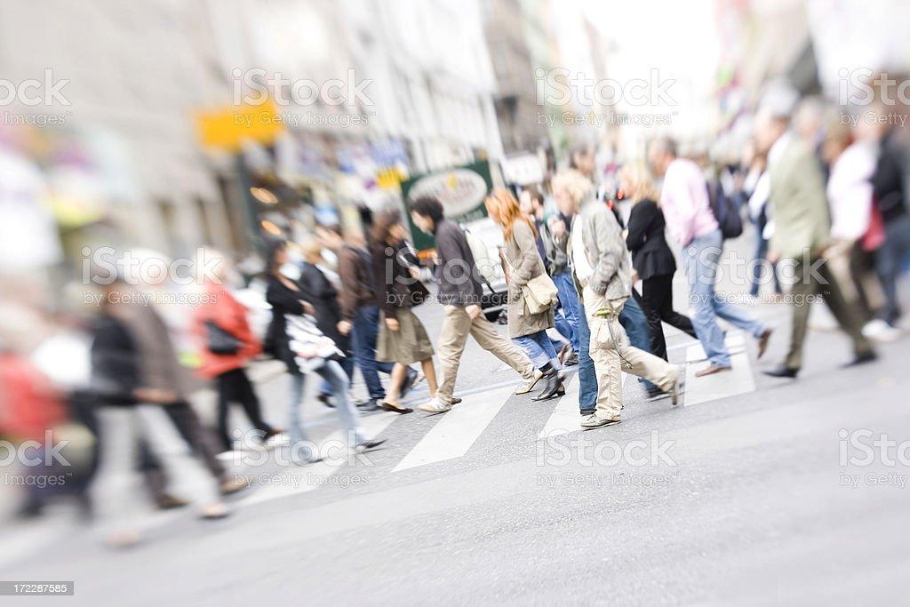 Crossing street royalty-free stock photo
