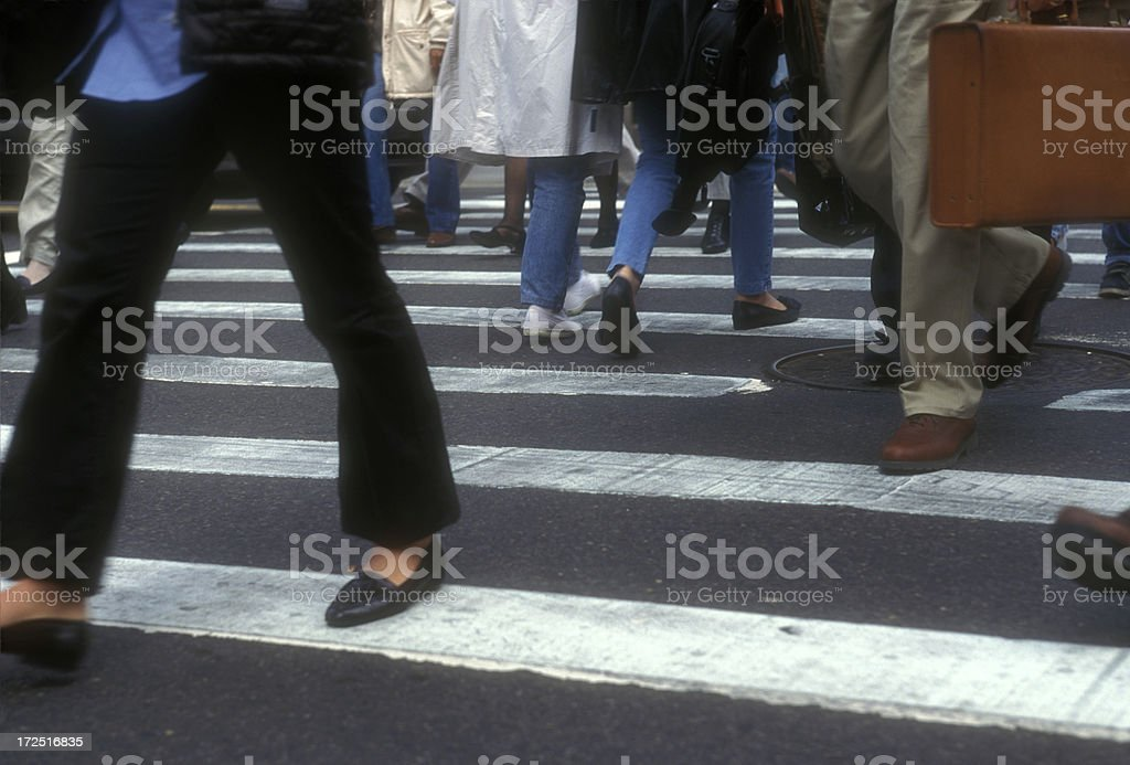 Crossing street royalty-free stock photo