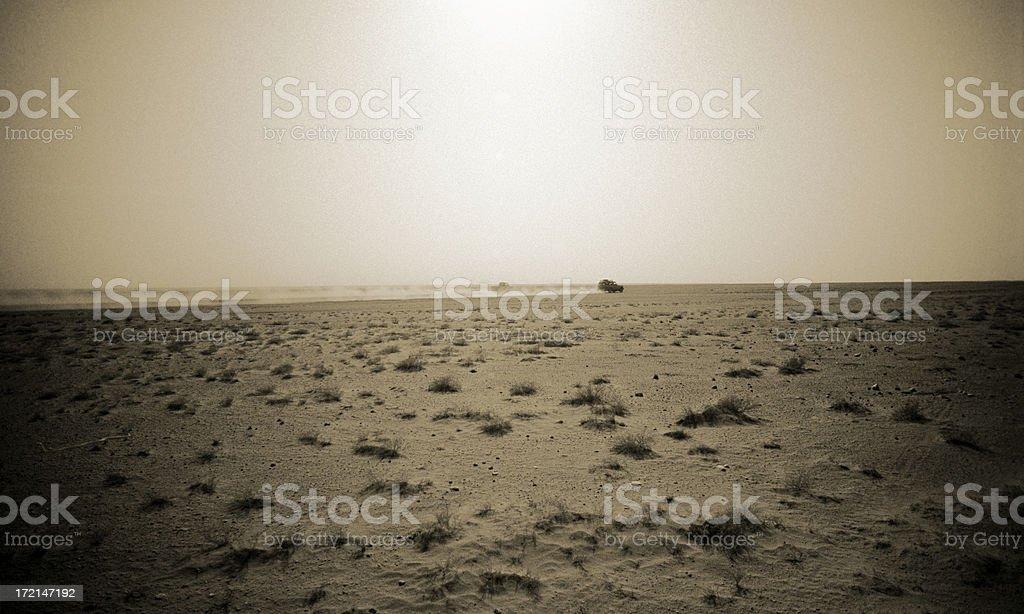crossing the empty quarter stock photo