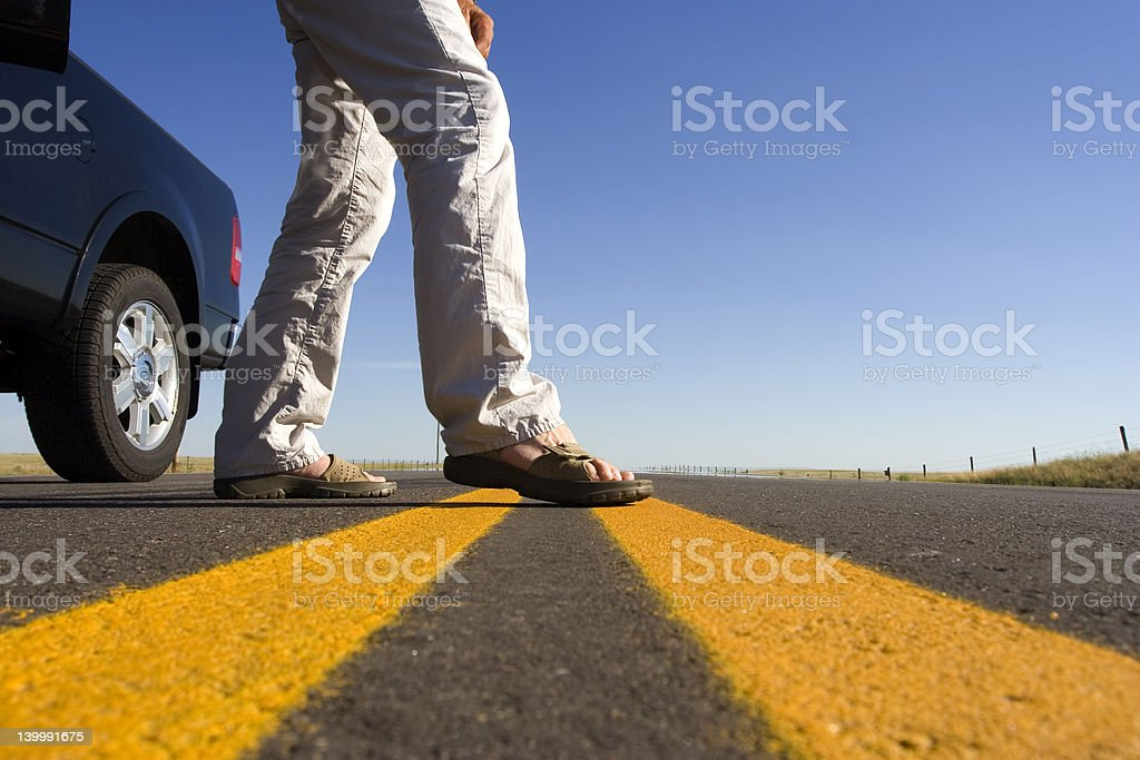 Crossing the line royalty-free stock photo
