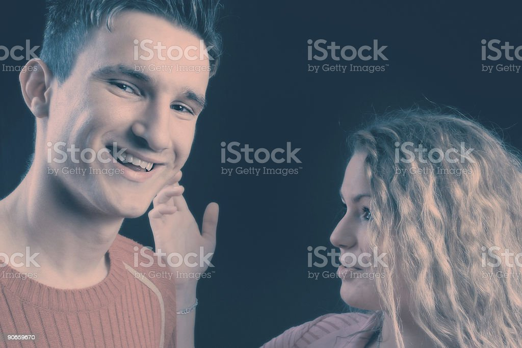 Crossprocessed couple royalty-free stock photo