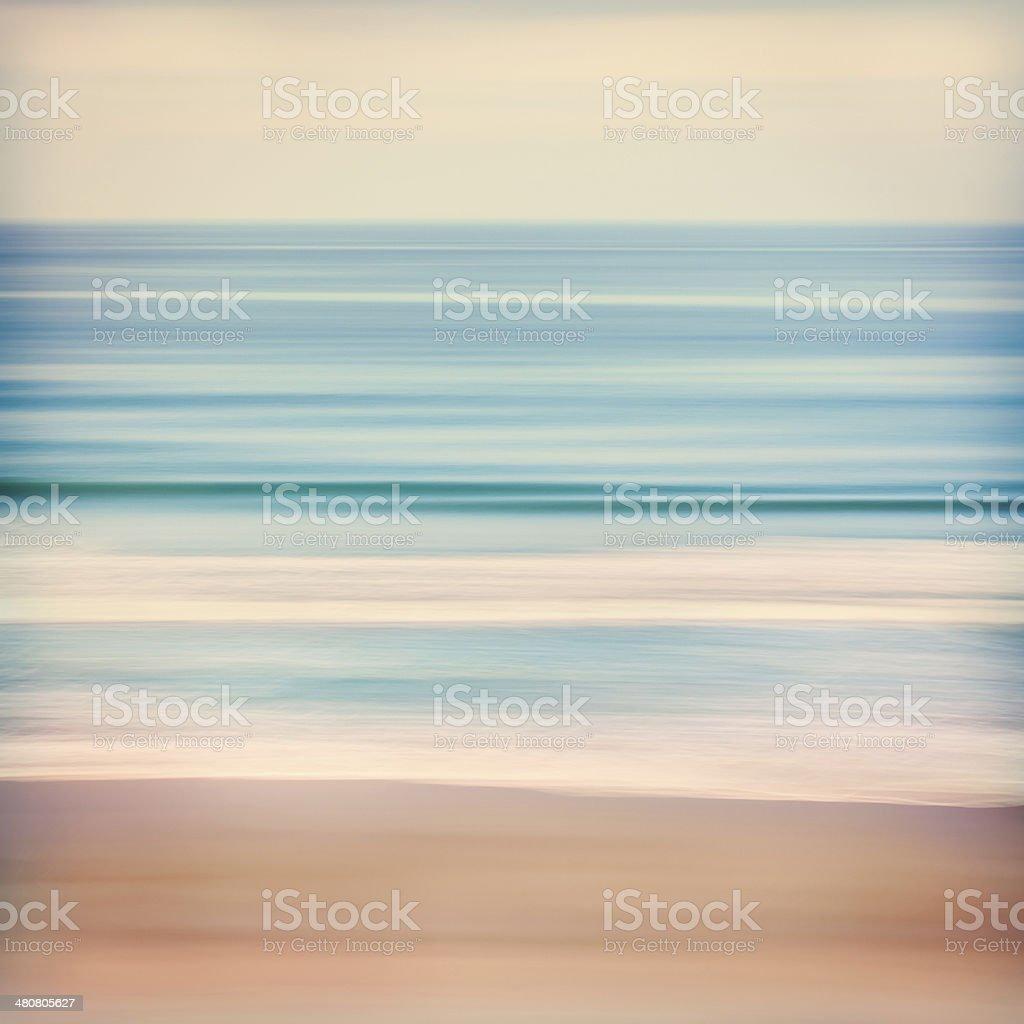 Cross-processed Ocean stock photo