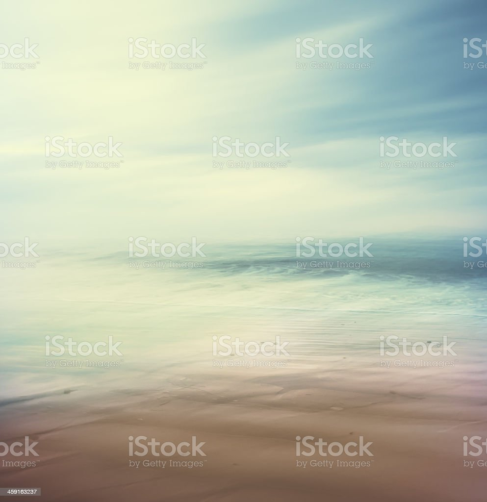 Cross-Processed Sea and Sand stock photo