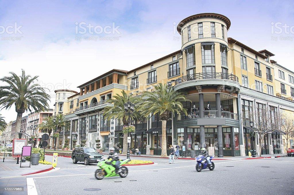 Crossroad At Shopping Center royalty-free stock photo