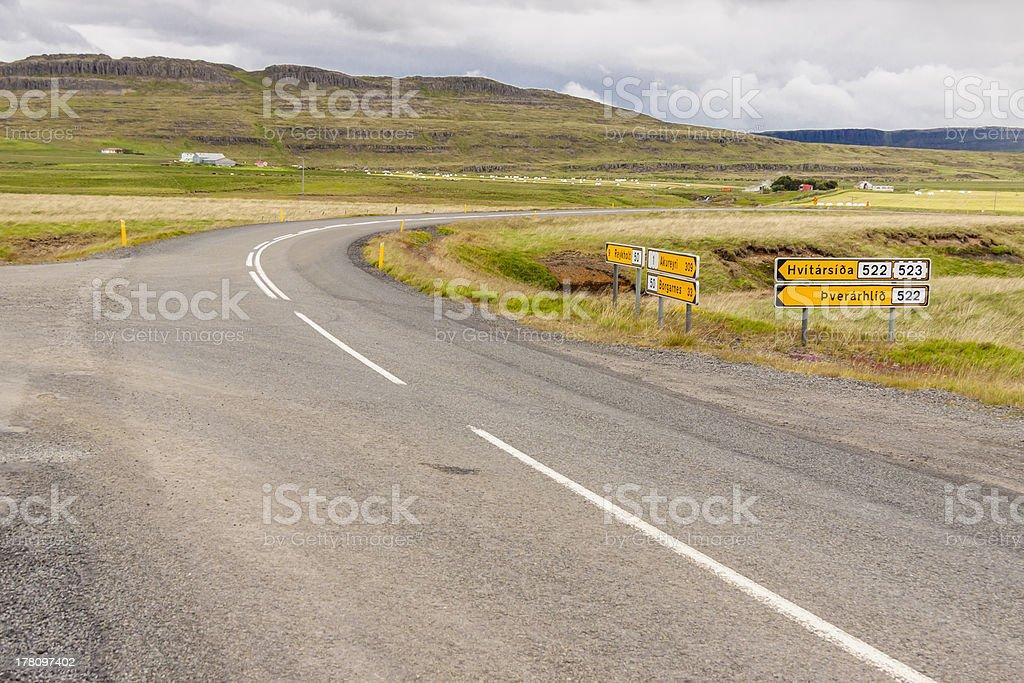 Crossroad - Iceland. royalty-free stock photo