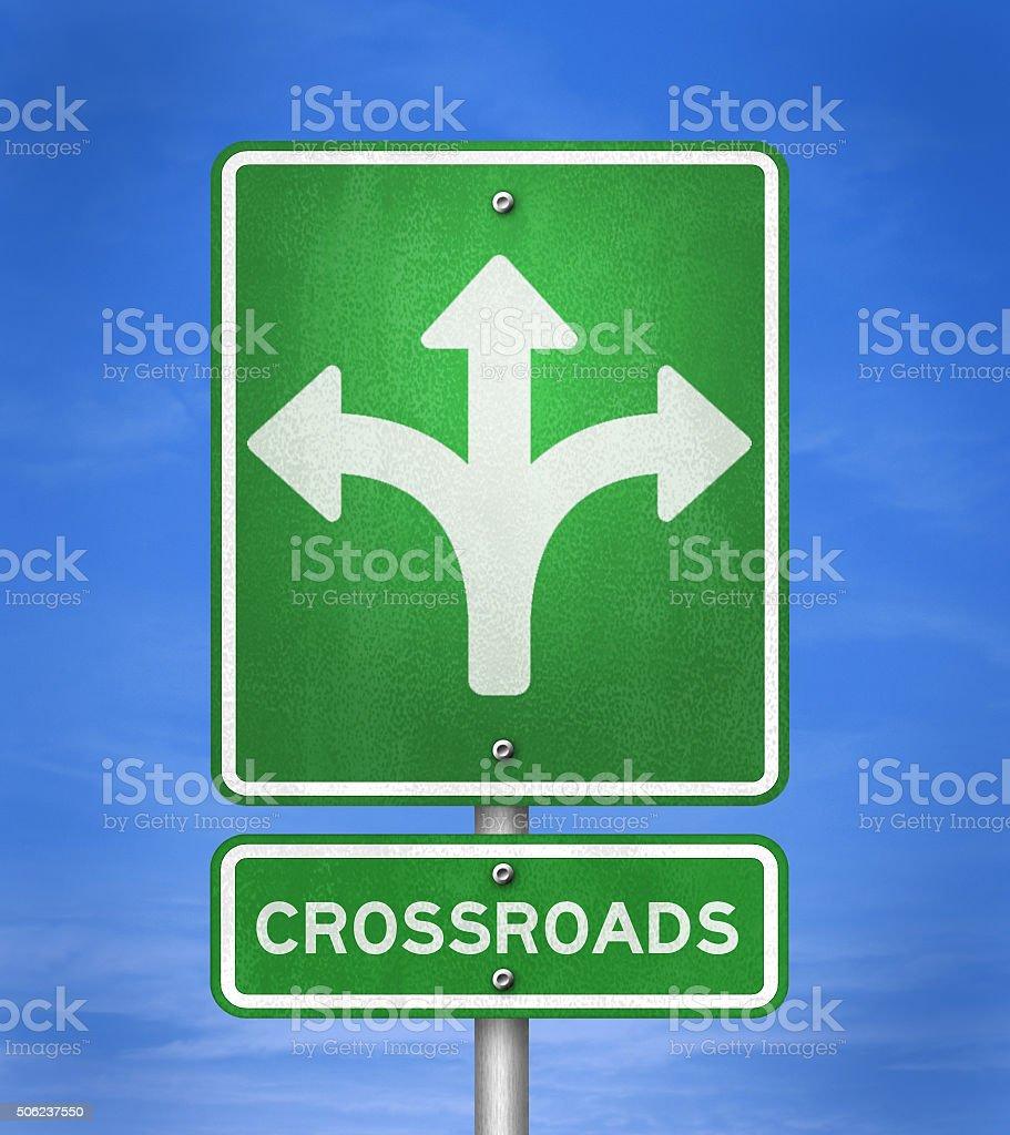 Crossroads - change opportunity stock photo