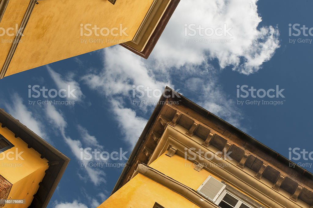 Crossroads of roofs royalty-free stock photo