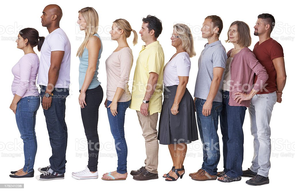 Cross-section of modern diversity royalty-free stock photo