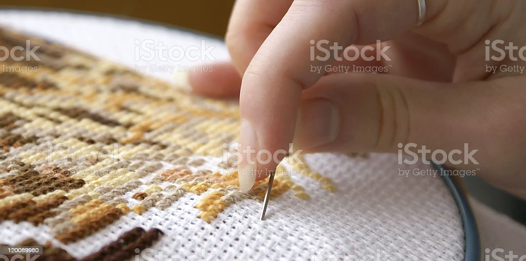 Cross-stitch royalty-free stock photo