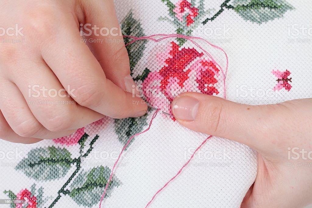 cross-stitch royalty-free stock photo