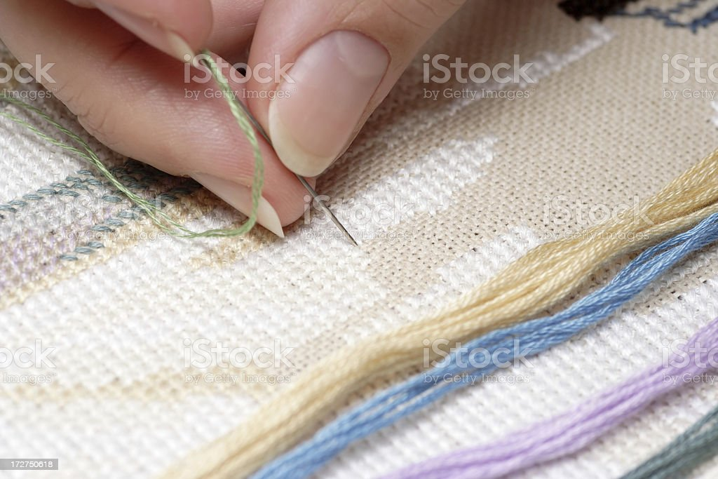 Cross-Stitch (Embroidery) royalty-free stock photo