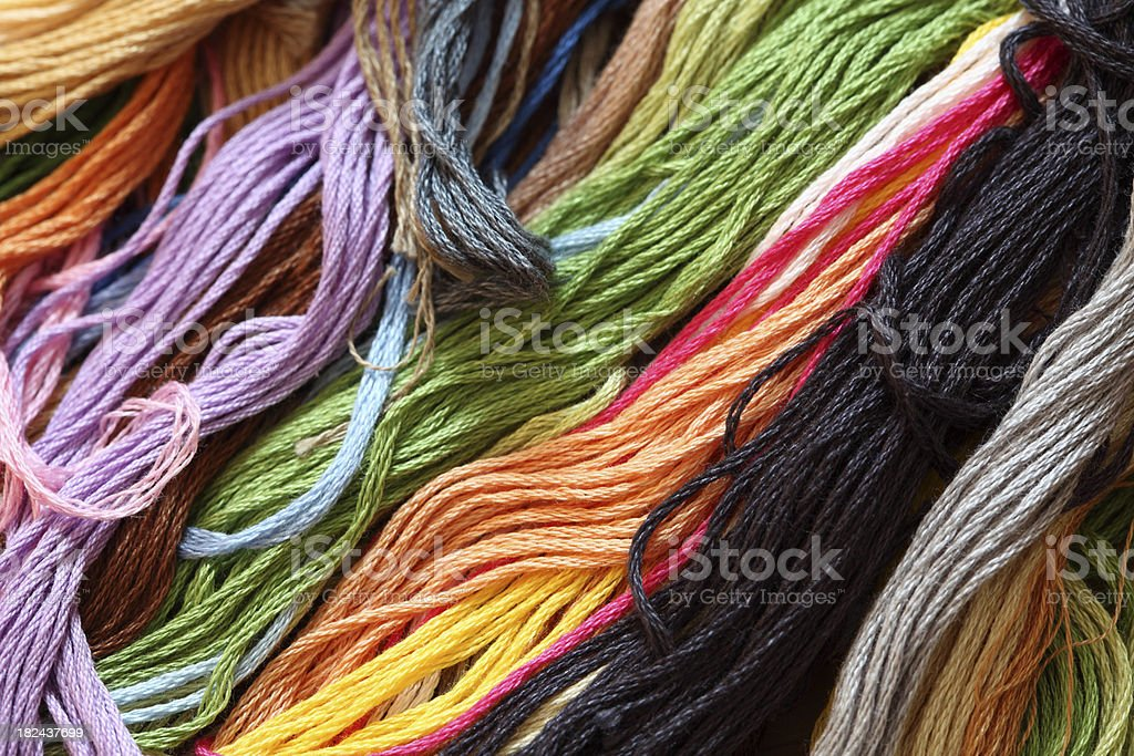 Cross-Stitch Threads royalty-free stock photo