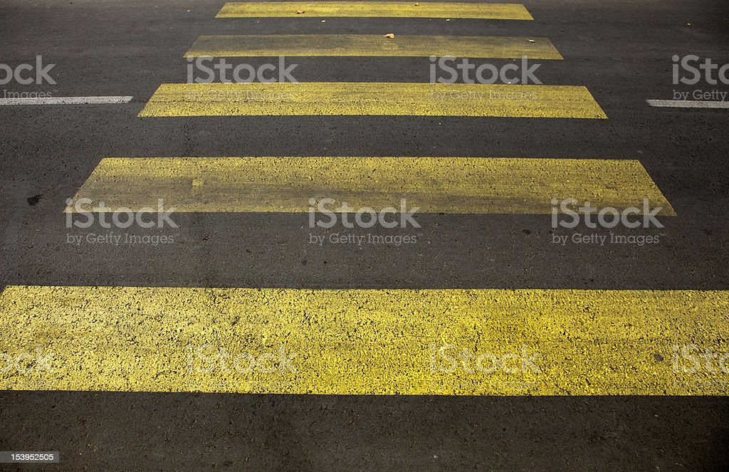 Crosswalk line royalty-free stock photo