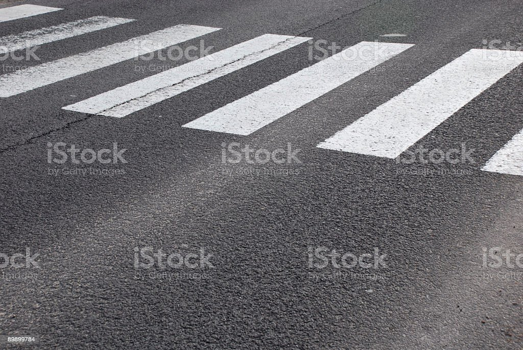 crosswalk on street stock photo
