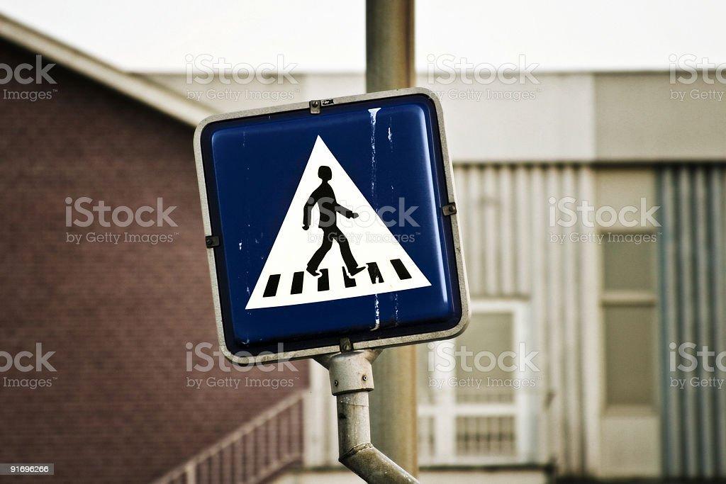 Crosswalk pictogram royalty-free stock photo