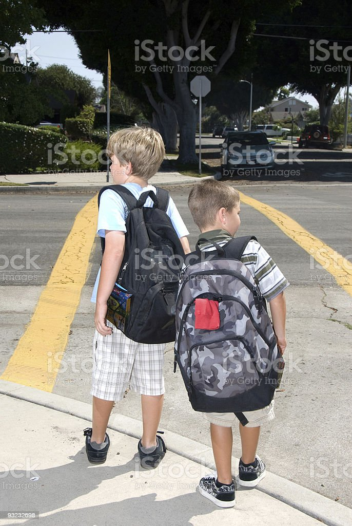 Crosswalk safety stock photo