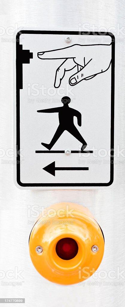 Crosswalk Sign stock photo