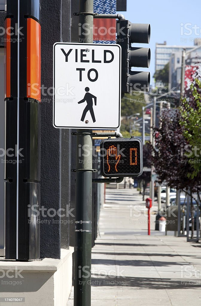 Crosswalk time is up royalty-free stock photo