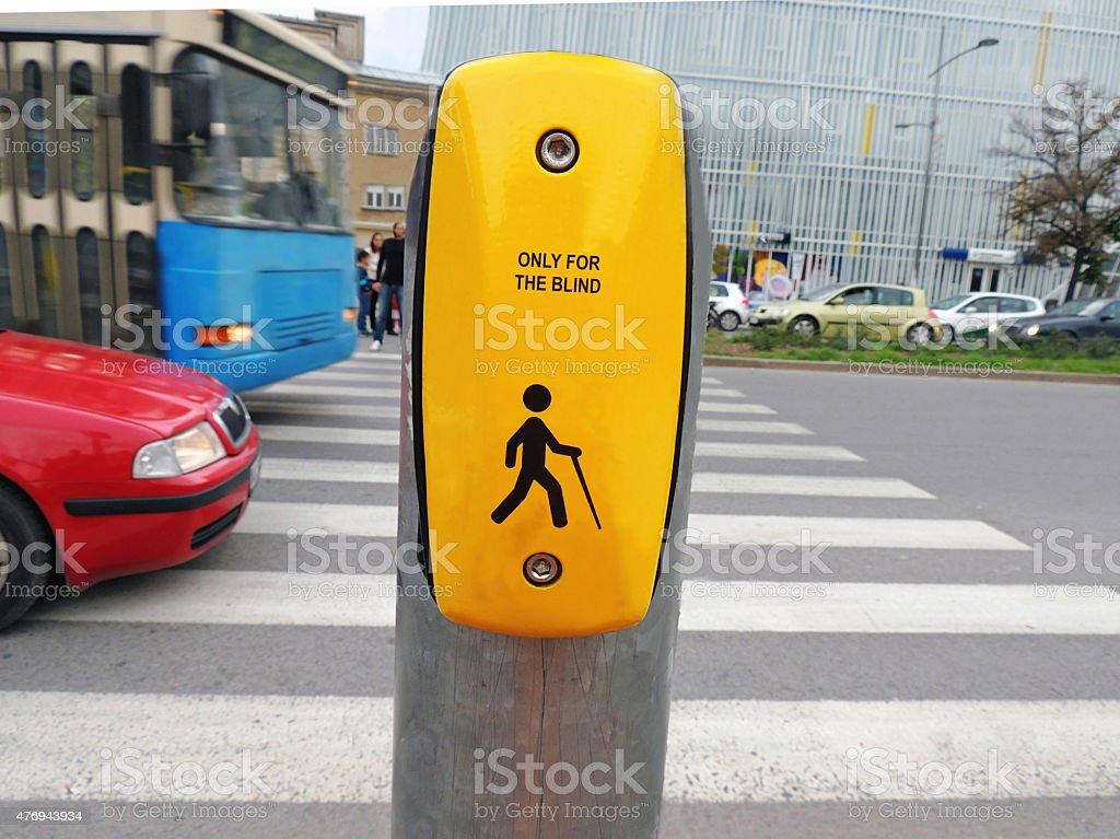 Crosswalk Warning for Blind stock photo