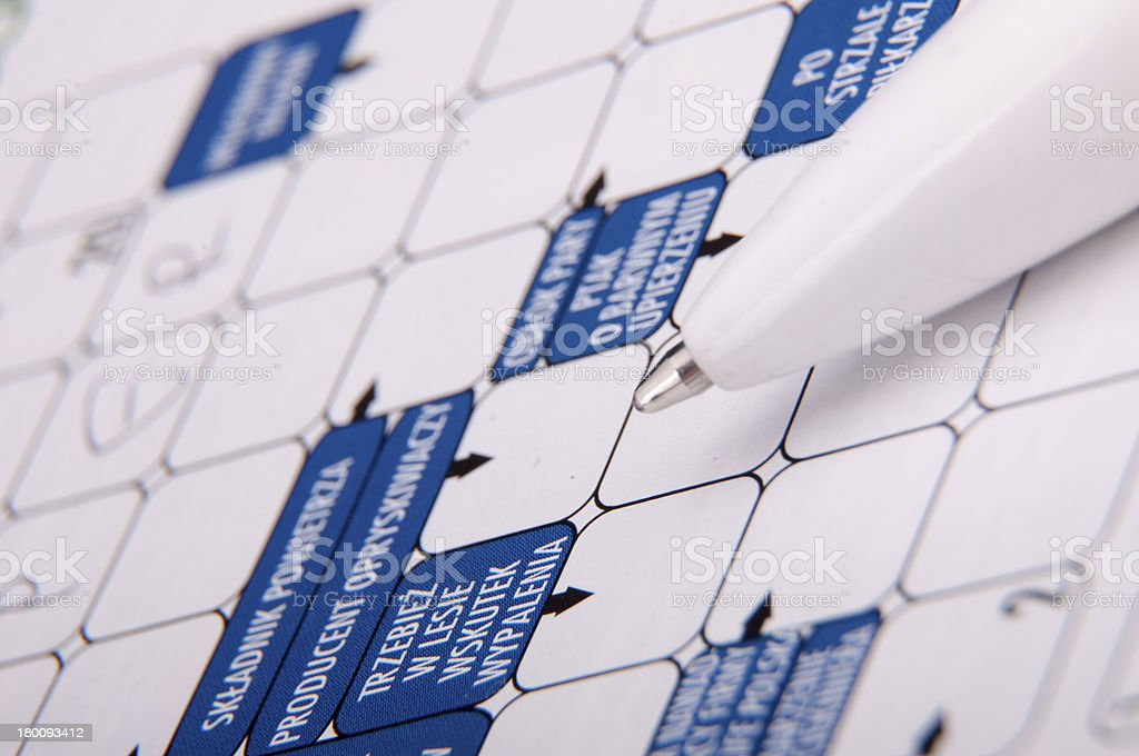 Crossword and pen royalty-free stock photo