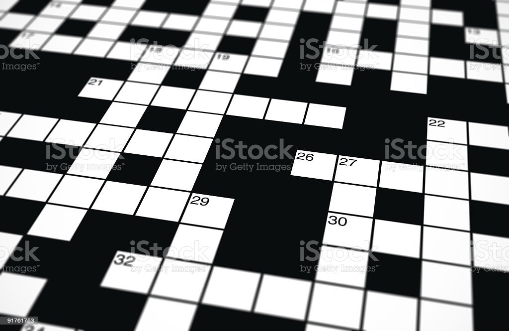 Crossword background royalty-free stock photo