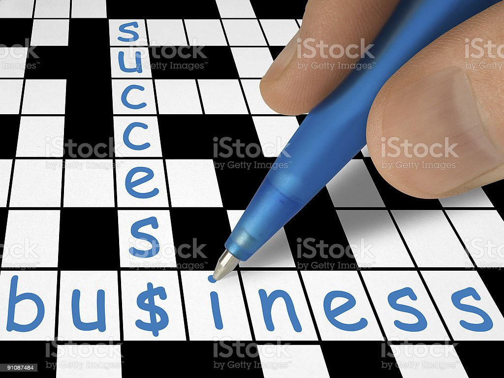 Crossword - business and success royalty-free stock photo