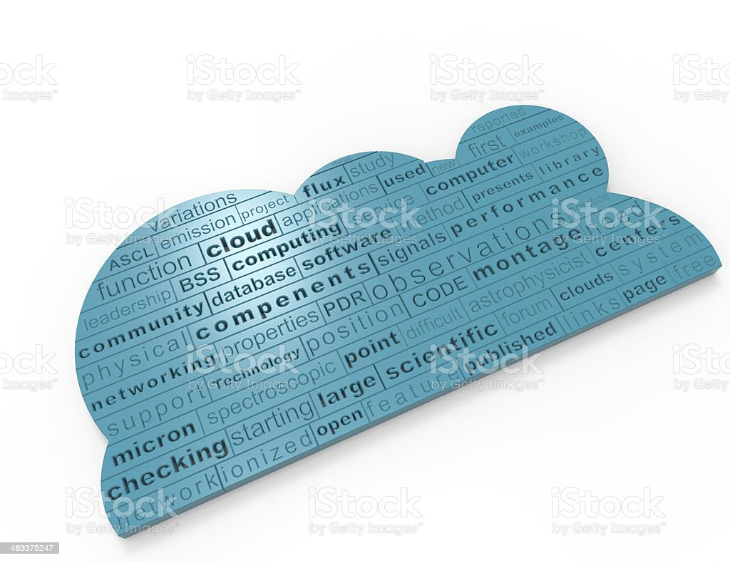 Crossword Cloud Computing stock photo