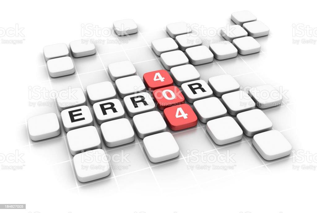 Crossword: ERROR 404 stock photo
