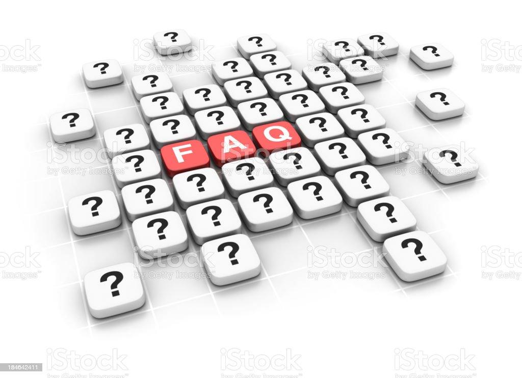 Crossword: FAQ royalty-free stock photo