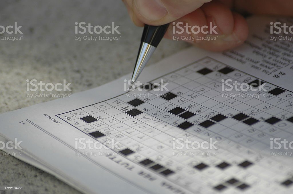 crossword royalty-free stock photo