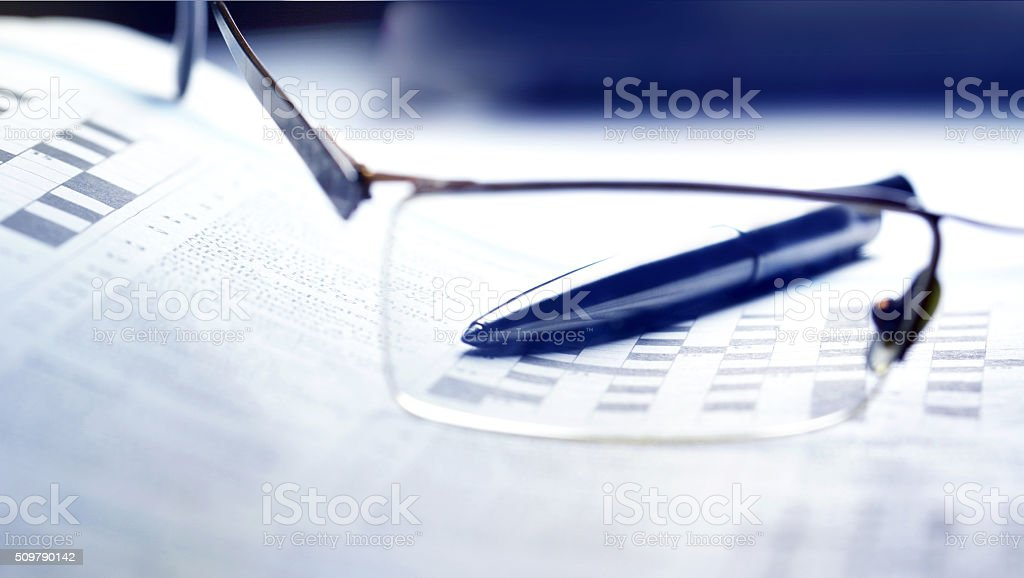 Crossword stock photo