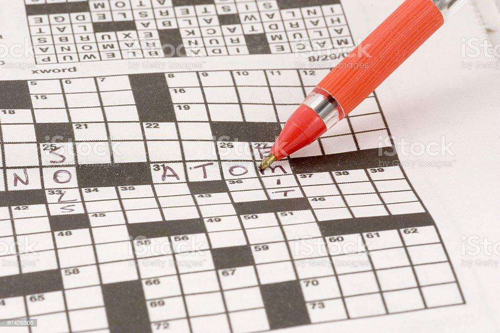 Crossword Puzzle stock photo