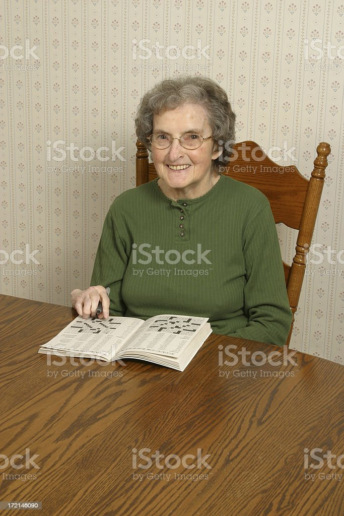 Crossword Puzzle to Pass Time Arthritis Rheumatism royalty-free stock photo