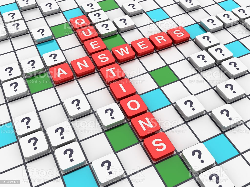 Crossword Series - Answers Questions Concept stock photo