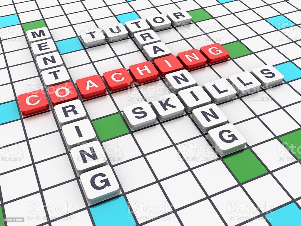 Crossword Series - COACHING stock photo