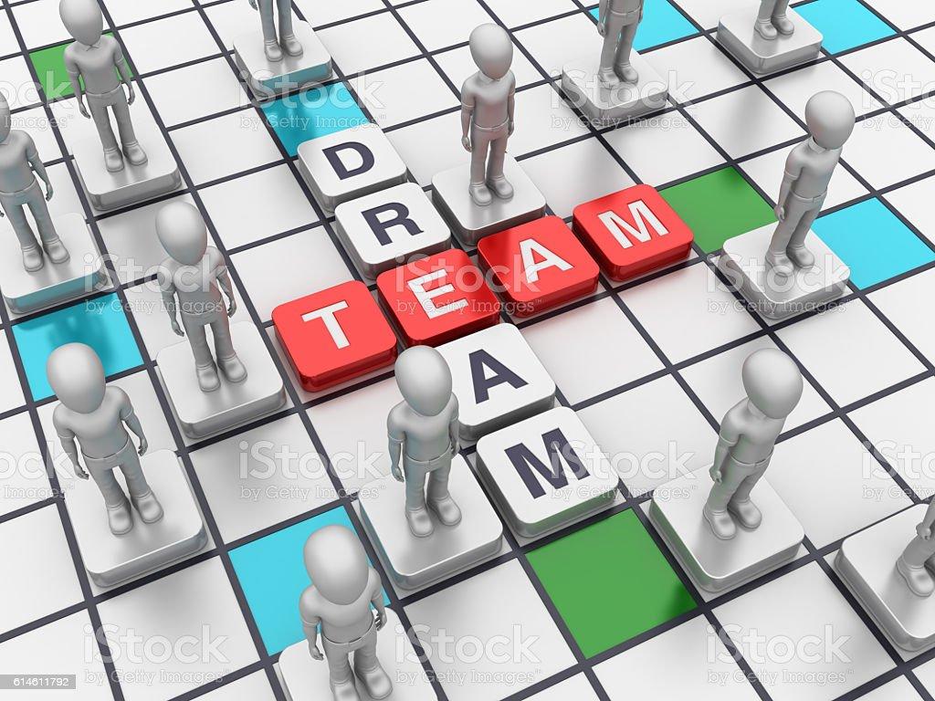 Crossword Series: DREAM TEAM stock photo