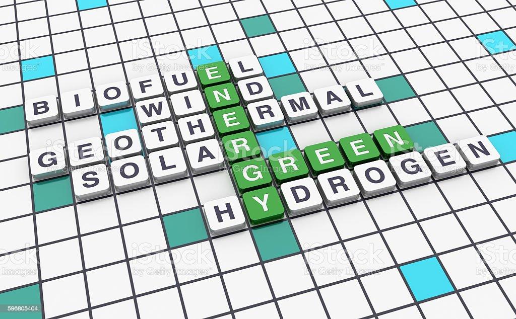 Crossword Series - GREEN ENERGY stock photo