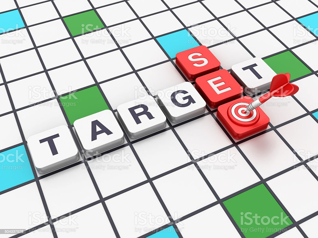 Crossword Series - SEO Target Concept stock photo