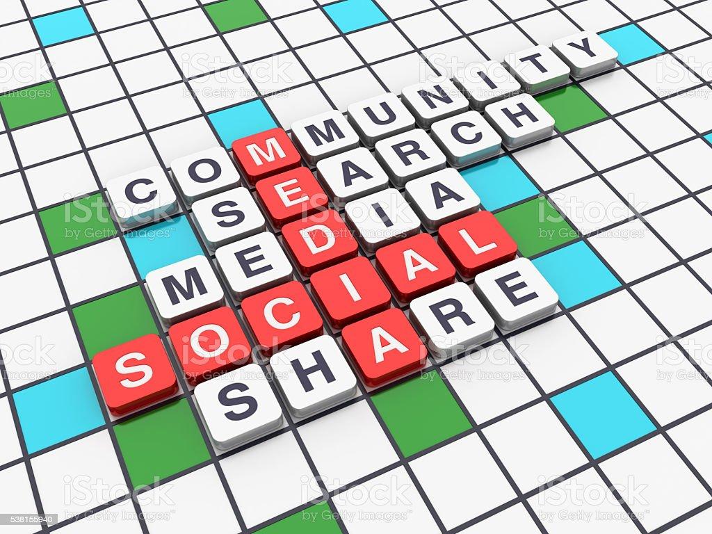 Crossword Series - SOCIAL MEDIA stock photo