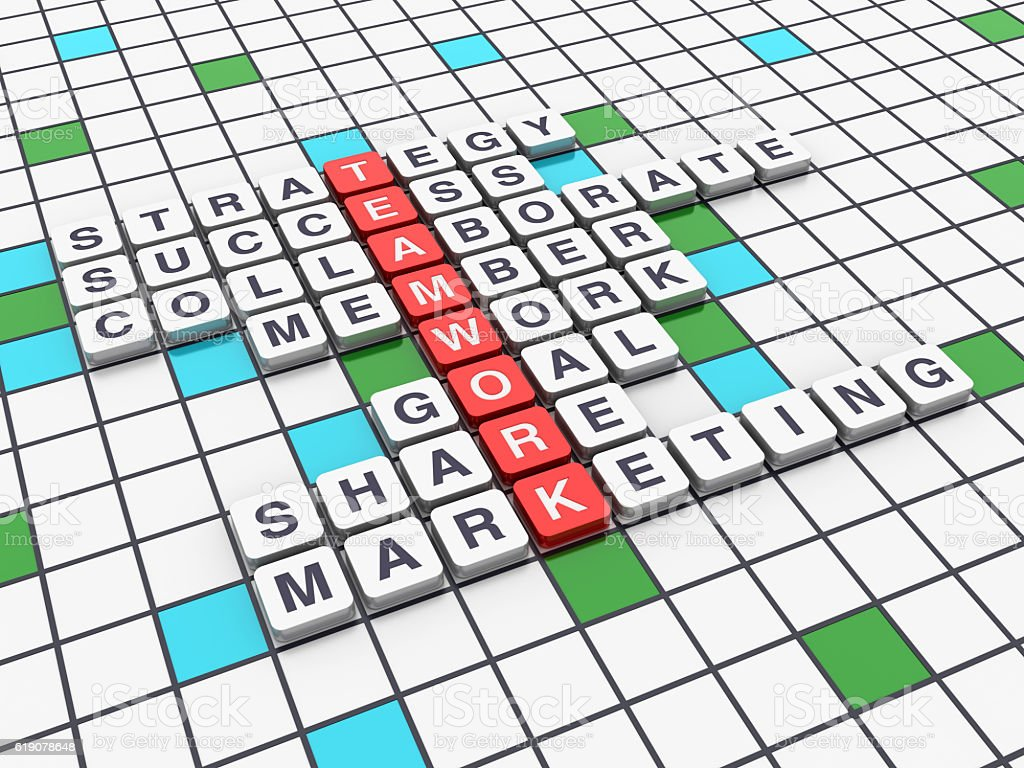 Crossword Series - TEAMWORK stock photo