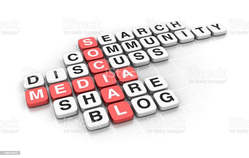 Crossword: Social Media royalty-free stock photo